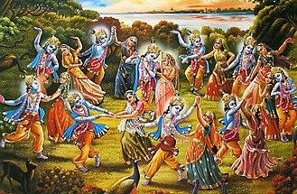 Shantipur - Image: Ras Leela of Lord Krishna
