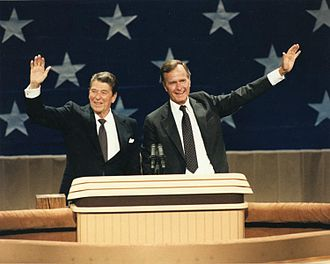 1984 United States presidential election - President Ronald Reagan and Vice President George H. W. Bush at the 1984 Republican National Convention in Dallas, Texas