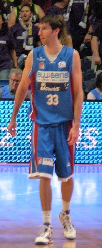 Alberto Corbacho - Corbacho, while playing with Obradoiro.