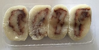 Banana cake - Banana cakes flavored with red bean paste