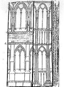 Progetto di Villard de Honnecourt per la Cattedrale di Reims