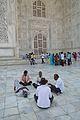 Relaxing Visitors - Taj Mahal - Agra 2014-05-14 3910.JPG