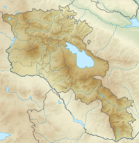 Location map Armenia is located in Armenia