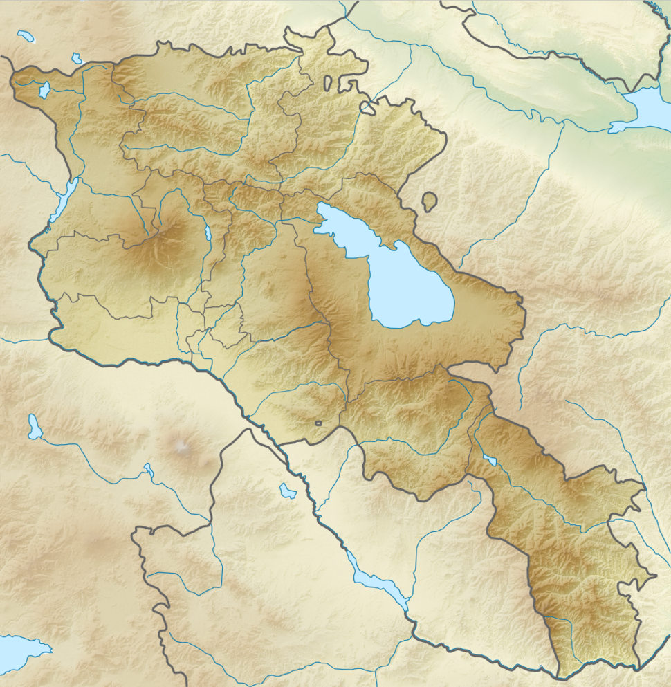 Relief Map of Armenia