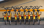 Rental bikes by Bore hostel ship, Turku, Finland.jpg