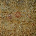 Reproducció de l'art esquemàtic del barranc de la cova Jeroni (la Vall de Gallinera) al Museu Arqueològic de Gandia.JPG