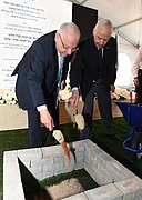 Reuven Rivlin at the laying of the cornerstone of the new building of the Mandel Foundation-Israel, Jerusalem, October 2017 (6668).jpg