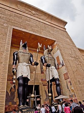 Revenge of the Mummy - Revenge of the Mummy's entrance at Universal Studios Singapore.