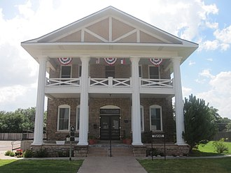 Post, Texas - Garza County Historical Museum in Post is a restored sanitarium.