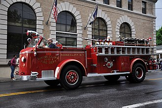 Rhinecliff, New York - Rhinecliff Fire Department antique
