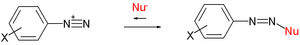 Nucleophile - Ritchie equation diazonium ion reactions