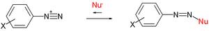 Nucleophile - Ritchie equation diazonium ion reactions