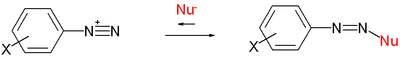 Richie equation diazonium ion reactions