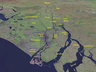 Hollands Diep - The lower part of the Rhine-Meuse Delta