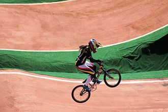 Sport in Colombia - Mariana Pajón is a Colombian cyclist, two-time Olympic gold medalist and BMX World Champion.