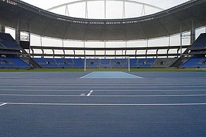 Track and field at the 2011 Military World Games - Image: Rioolympicstadium 5