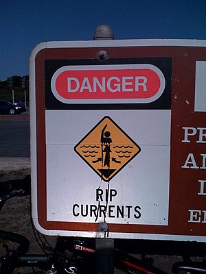 Surfing - A Rip Current warning sign