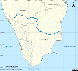 Kaveri river in southern India