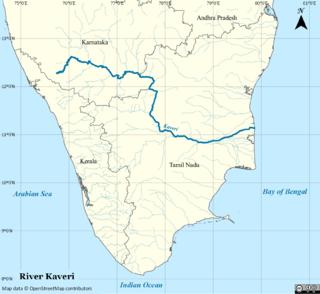 Kaveri river in South India