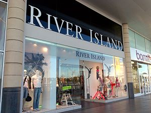 River Island - Store front at Castlepoint Shopping Centre.