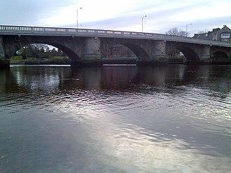 James Leslie (engineer) - River Leven and Old Leven Bridge by John Leslie
