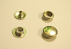 Snap fastener - Image: Rivet snap parts