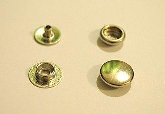 Snap fastener - Image: Rivet snap parts