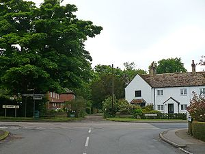 Haynes, Bedfordshire - Image: Road junction, Haynes geograph.org.uk 837793