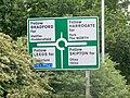 Road sign at Leeds Bradford International Airport (24th July 2010) 003.jpg