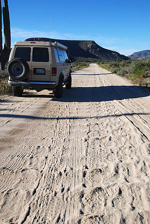 Washboarding - Image: Road with Washboarding in Baja California