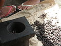 Roast cocoa beans ready to pounded into a paste for the Samoan koko drink..JPG
