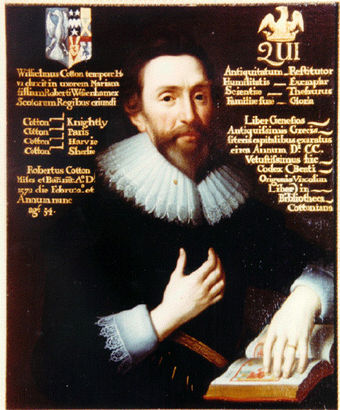 Sir Robert Cotton, Huntingdonshire RobertCotton1626.jpg