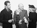 Robert Taylor, Cecil B. DeMille & Jean Harlow, CBS Radio.jpg