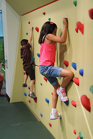 Glazer Children's Museum - Rock climbing wall at Glazer Children's Museum