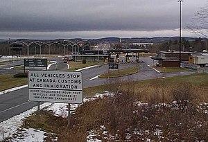 Derby Line–Rock Island Border Crossing - Canada Border Inspection Station at Rock Island, Quebec