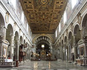Basilica of Santa Maria in Ara Coeli - Interior of the church.
