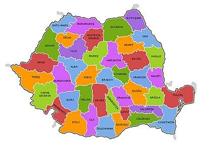 Harta Muta Judetele Romaniei