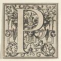 Roman Alphabet letter P with Louis XIV decoration MET DP855583.jpg