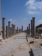 Romeinse ruïnes in citadel in Bosra, Syria..jpg