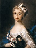 Rosalba Carriera - Young Girl Holding a Monkey - WGA04508.jpg
