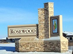 Rosewood entrance sign