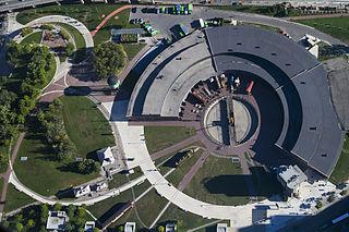 Roundhouse Park park in Toronto, Ontario, Canada