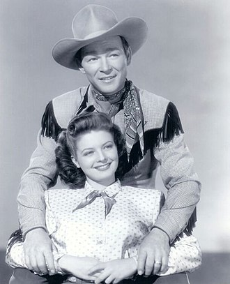 Country music - Publicity photo of Roy Rogers and Gail Davis, 1948