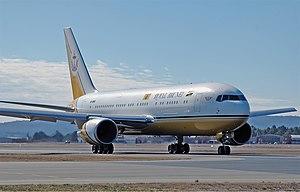 Royal Brunei Airlines Boeing 767-200ER CBR Gilbert.jpg