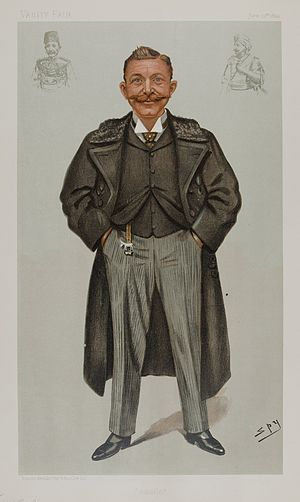 "Rudolf Carl von Slatin - ""Salatin"" Slatin as caricatured by Spy (Leslie Ward) in Vanity Fair, June 1899"