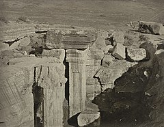 Ruins of a 9th century Hindu temple in Kashmir, 1868 photo.jpg