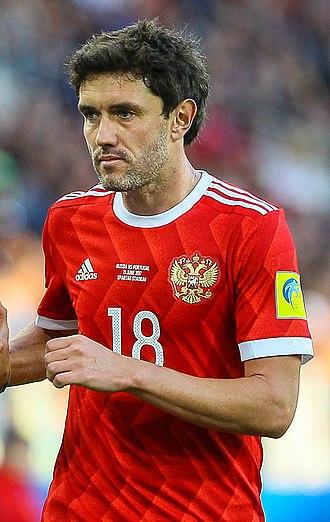 Yuri Zhirkov - Zhirkov with Russia in 2017