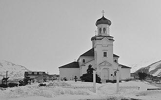 Churchyard - Russian Orthodox Church and churchyard in Alaska