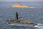 Russian cruiser Marshal Ustinov and HMS St Albans MOD 45165082.jpg