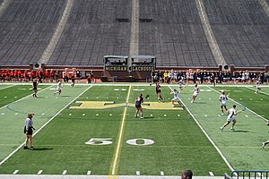 Michigan Wolverines women's lacrosse - Michigan in action against Rutgers in 2015